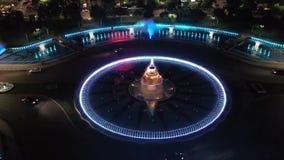Piata Unirii bij nacht stock footage