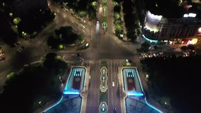 Piata Unirii-satellietbeeld stock footage