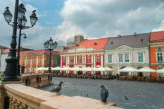 Piata Unirii, Union Square en Timisoara Foto de archivo libre de regalías