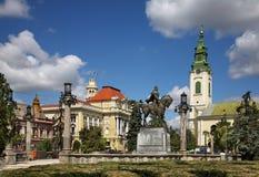 Piata Unirii (Union Square) i Oradea romania arkivfoton