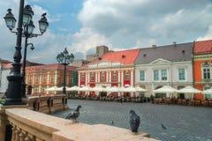 Piata Unirii Union Square i Timisoara Royaltyfri Foto