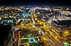 Piata Universitati. The view from Intercontinental Hotel, Bucharest Romania Stock Photography