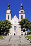 Piatnica, Польша - приходская церковь Transfiguration в городке Стоковые Изображения