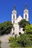 Piatnica, Polônia - a igreja paroquial da transfiguração na cidade imagem de stock royalty free