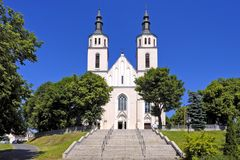 Piatnica, Poland - the Transfiguration parish church in the town Royalty Free Stock Photo