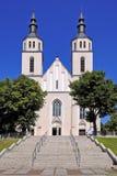 Piatnica, Polen - die Transfigurationsgemeindekirche in der Stadt Stockbilder