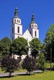 Piatnica, Polska - transfiguracja farny kościół w miasteczku obraz stock