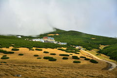 Piatra Arsa hotel from Bucegi mountains Stock Photos