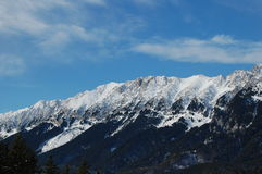 Piatra Craiului Mountain Range in winter Royalty Free Stock Images