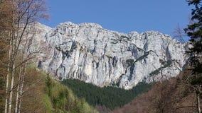 Piatra Craiului mountains in the romanian Carpathians stock video