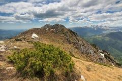 Piatra Craiului National Park in Romania. Alpine refuge,Piatra Craiului mounttains,Carpathians,Romania Stock Photo