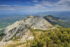 Piatra Craiului National Park in Romania. Piatra Craiului mounttains,Carpathians,Romania Royalty Free Stock Photography