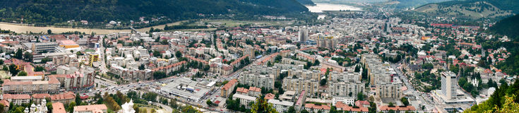 Piatra Neamt city panorama Royalty Free Stock Photo