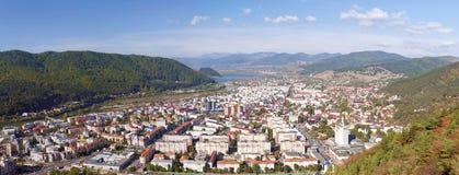 Piatra Neamt - panorama Foto de archivo libre de regalías
