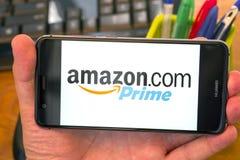 Amazon Prime on mobile royalty free stock photo