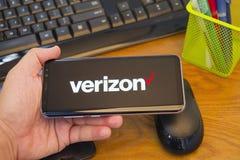 Verizon logo on mobile display