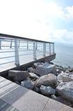 Piattaforma alla spiaggia Fotografia Stock