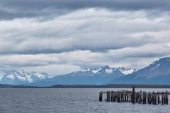 Piattaforma antica di Puerto Natales Immagini Stock