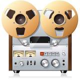 Piattaforma bobina a bobina del registratore di nastro dell'annata Immagini Stock Libere da Diritti