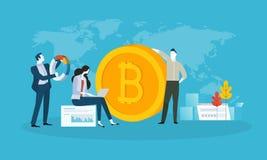 Piattaforma commerciale di Bitcoin Illustrazione di Stock