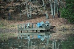 Piattaforma del lago Fotografie Stock