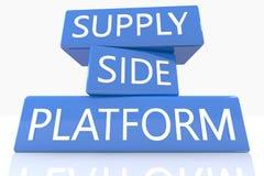 Piattaforma del lato dell'offerta Immagine Stock