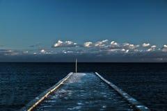 Piattaforma del mare Fotografia Stock