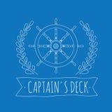 Piattaforma del ` s di capitano royalty illustrazione gratis