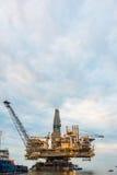 Piattaforma dell'impianto offshore Fotografie Stock Libere da Diritti