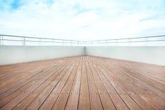 Piattaforma della nave da crociera Immagini Stock