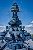 Piattaforma della nave da guerra il Texas Immagine Stock