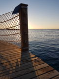 Piattaforma della spiaggia Fotografia Stock