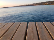 Piattaforma della spiaggia Immagine Stock