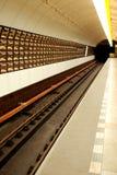 Piattaforma della stazione di metro Fotografia Stock