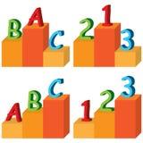 Piattaforma di ABC 123 Fotografia Stock