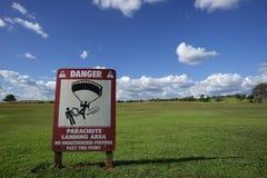 Piattaforma di atterraggio per il paracadute Fotografie Stock Libere da Diritti