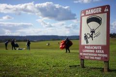 Piattaforma di atterraggio per il paracadute Fotografia Stock