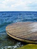 Piattaforma di immersione subacquea Fotografia Stock Libera da Diritti