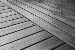 Piattaforma di legno all'aperto Fotografia Stock Libera da Diritti
