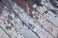 Piattaforma di legno diagonale Immagine Stock