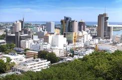 Piattaforma di osservazione a Adelaide forte sulla capitale di Port Louis delle Mauritius Immagine Stock
