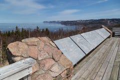 Piattaforma di osservazione a Cabot Trail Immagine Stock