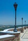 Piattaforma di osservazione con le lanterne Fotografie Stock