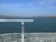 Piattaforma di osservazione del bacino idrico Immagini Stock