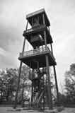 Piattaforma di osservazione di legno (in bianco e nero) Fotografia Stock Libera da Diritti