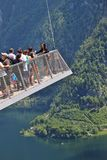 Piattaforma di osservazione in Hallstatt, Austria Fotografia Stock Libera da Diritti