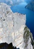 Piattaforma di osservazione in montagne Fotografia Stock