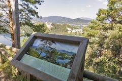 Piattaforma di osservazione sanguinata del lago in Slovenia Fotografie Stock Libere da Diritti