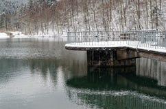 Piattaforma di osservazione sul lago Herzberger, Germania Immagini Stock Libere da Diritti
