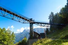 Piattaforma di osservazione sulla montagna del sale di Salzberg Immagini Stock Libere da Diritti